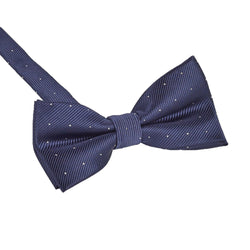 Navy & White Small Polka Dot Bow Tie