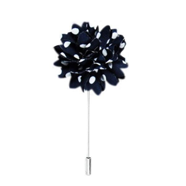Black & White Polka Dot Lapel Pin
