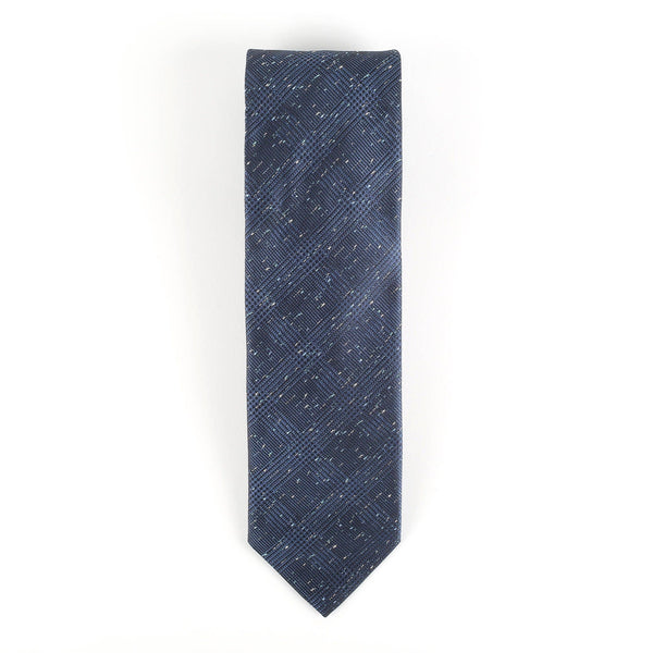 Blue Speckled Prince of Wales Tie Neckties Adesso Accessories