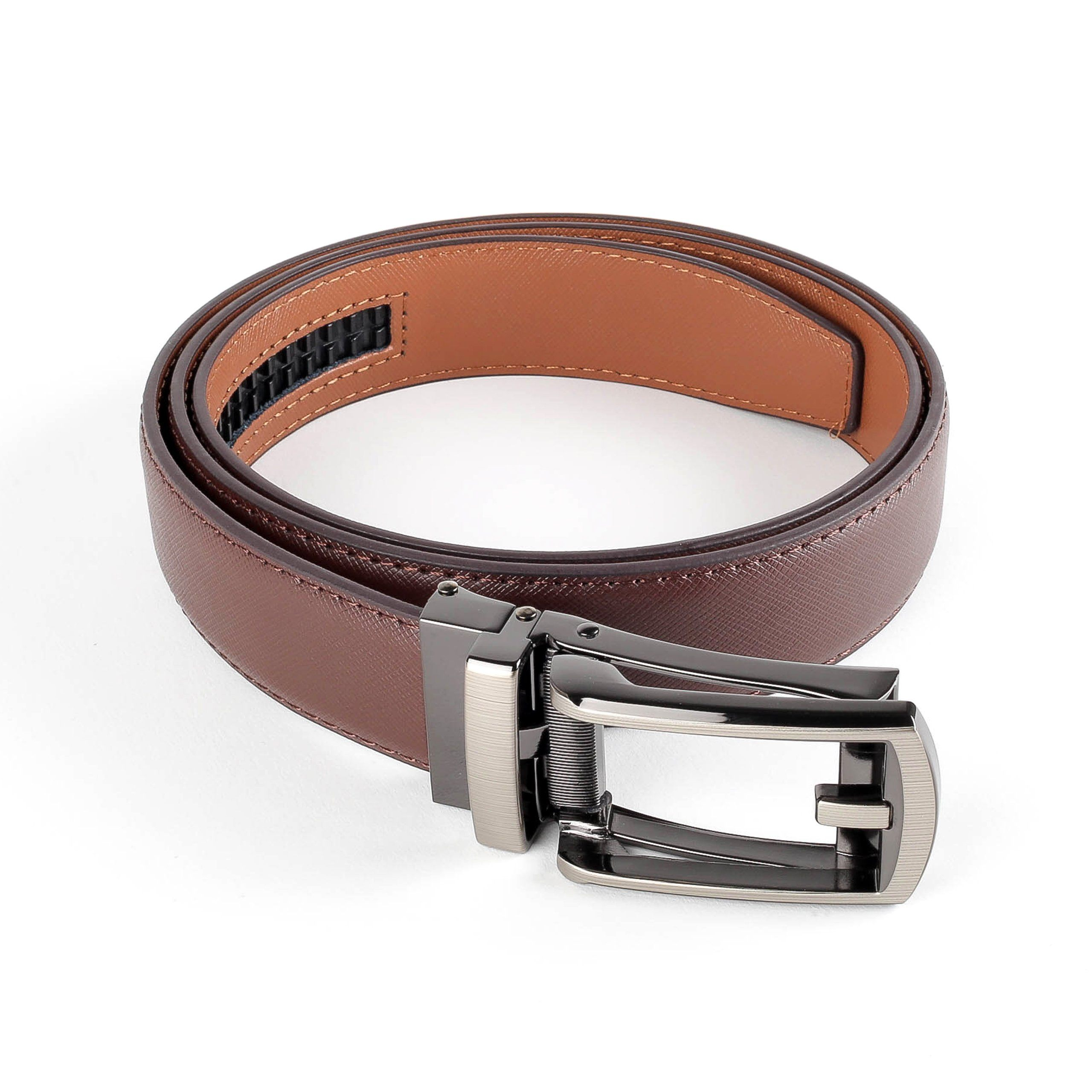 Loop Buckle Ratchet Leather Belt Belts Adesso Accessories