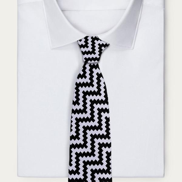 Zigzag Noir Neckties Adesso Accessories