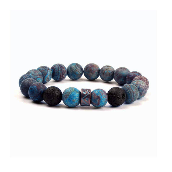 Blue Copper Bead Bracelet