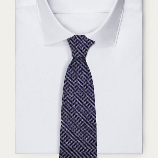 Blue Hounds-Tooth Necktie