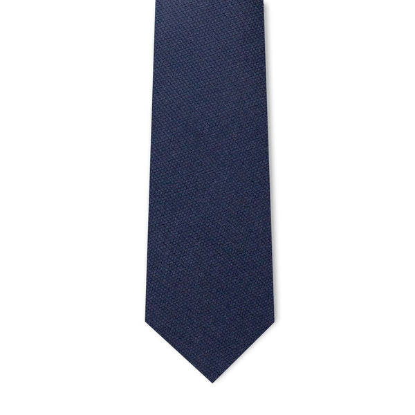 Navy Blue Microprint Necktie Neckties Sirocco Fan Accessories