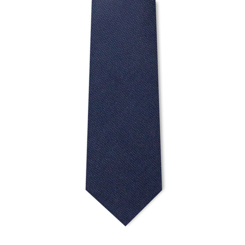 Navy Blue Microprint Necktie Neckties Adesso Accessories