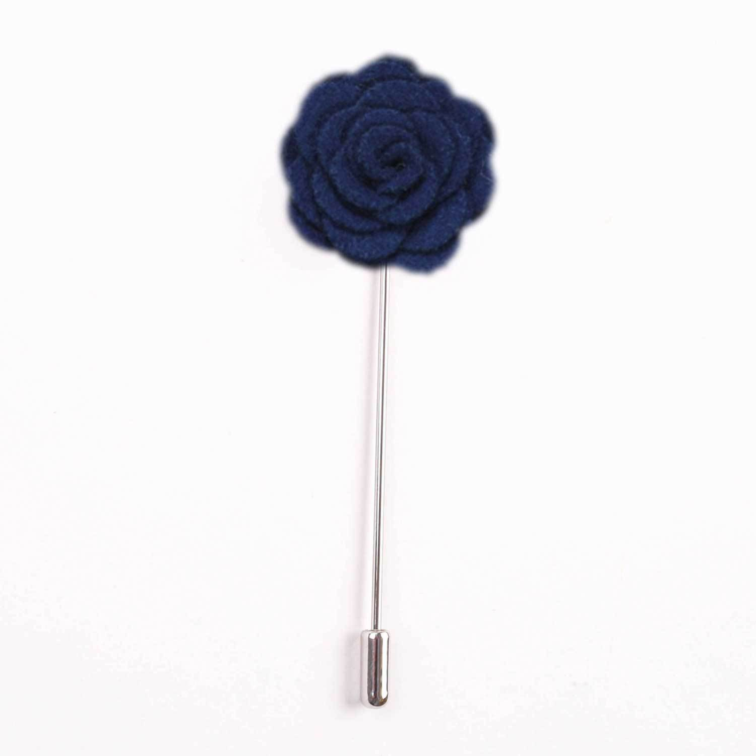 Blue Rose Petal Lapel Pin