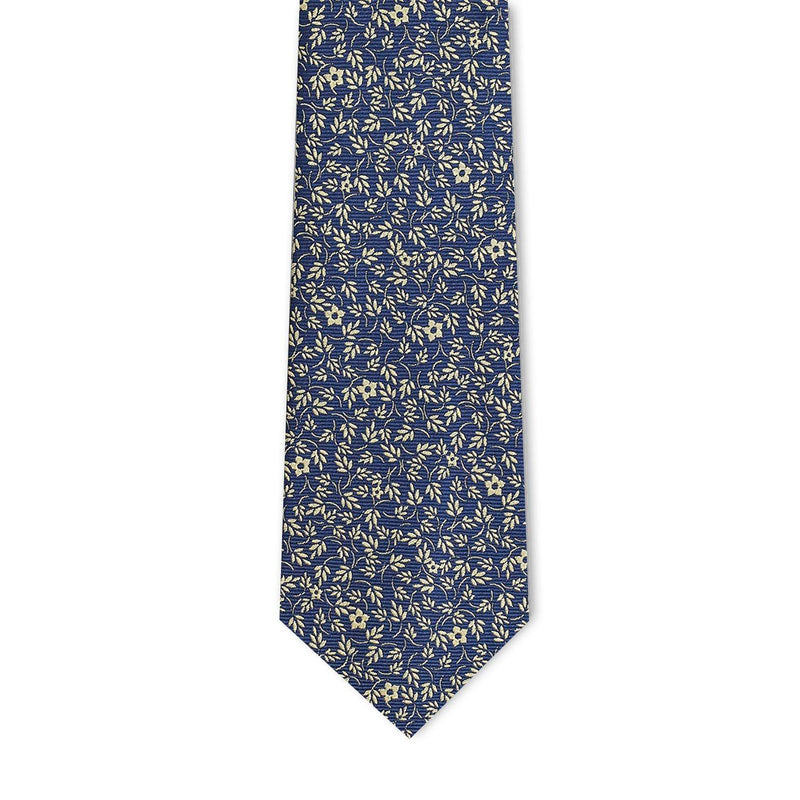 Yellow Micro Floral Necktie Neckties Adesso Accessories