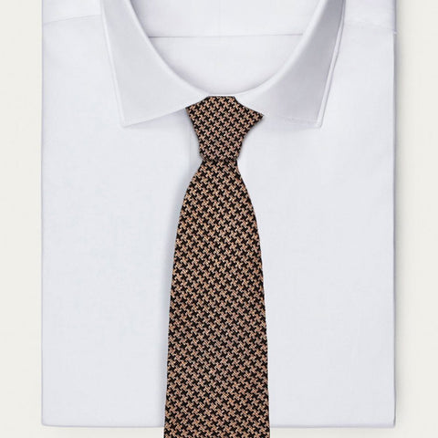 Brown Hounds-Tooth Necktie