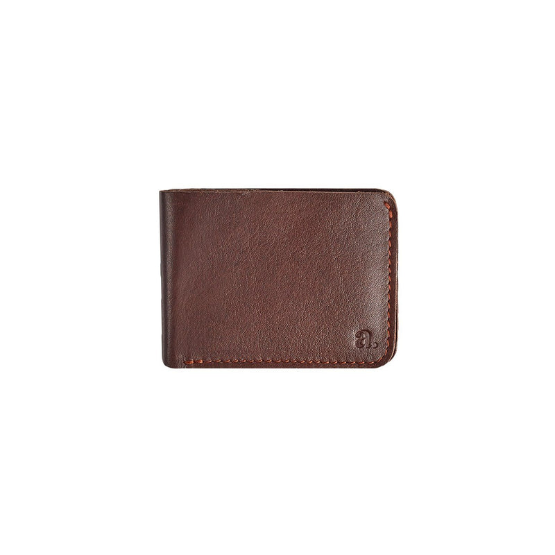 Raw Edge Bifold Wallet Leather Goods Adesso Accessories Brown