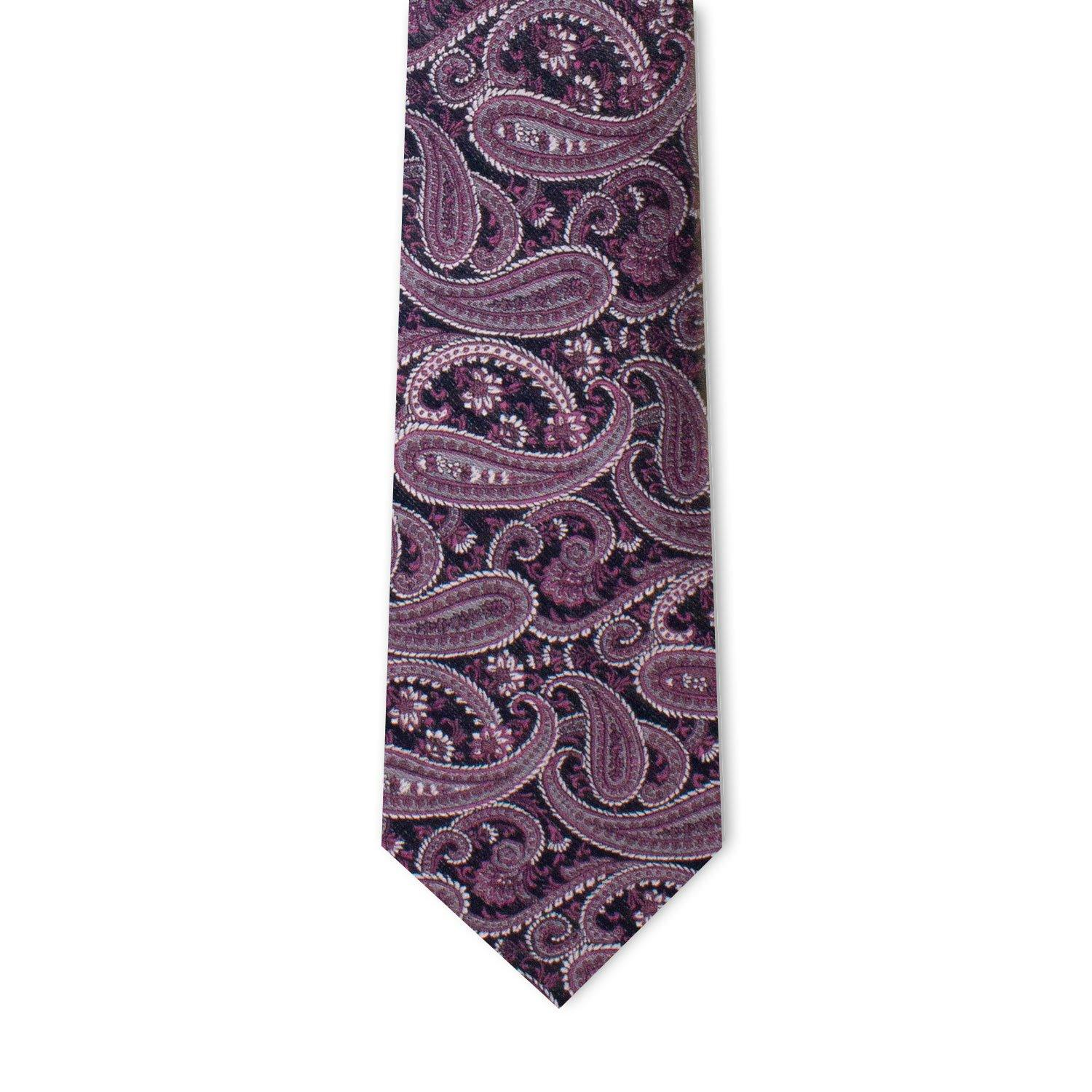 Fuchsia Royal Purple Paisley Neckties Neckties Sirocco Fan Accessories