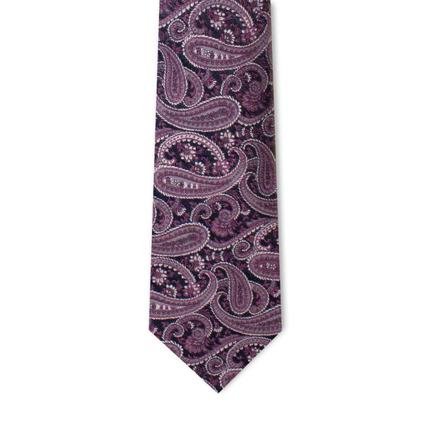 Fuchsia Royal Purple Paisley Neckties Neckties Adesso Accessories