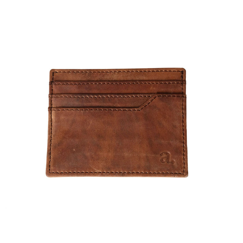 Saddle Leather Card Holder Leather Goods Adesso Accessories