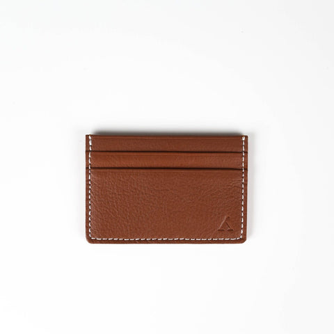 Medium Brown Leather Card Holder