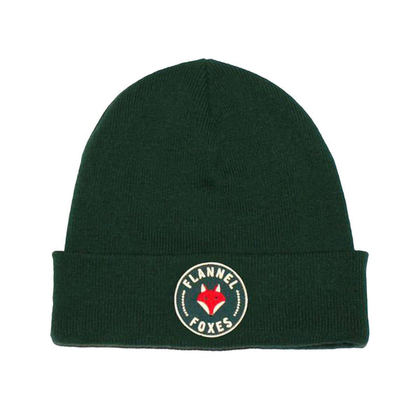 Flannel Foxes Embroidered Green Toque Apparel Flannel Foxes