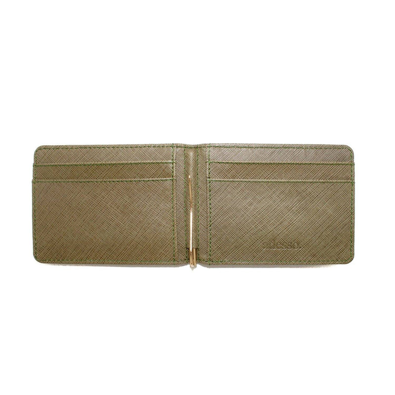 Saffiano Clip Leather Wallet Leather Goods Adesso Accessories