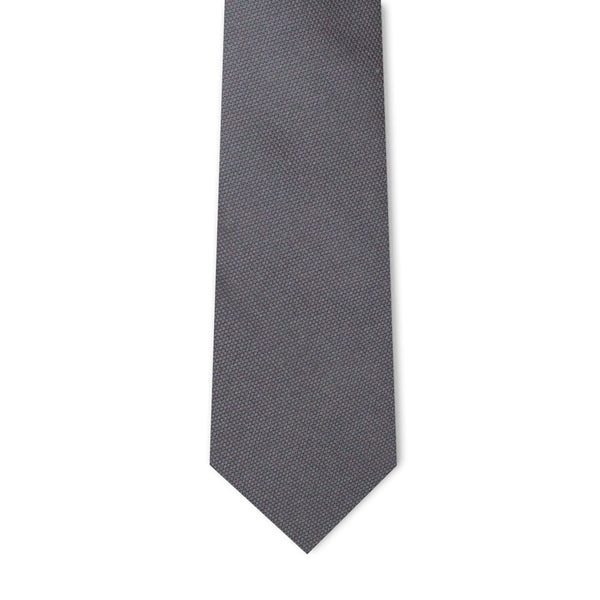 Grey Microprint Necktie Neckties Adesso Accessories