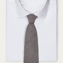 Grey Cross Striped Necktie