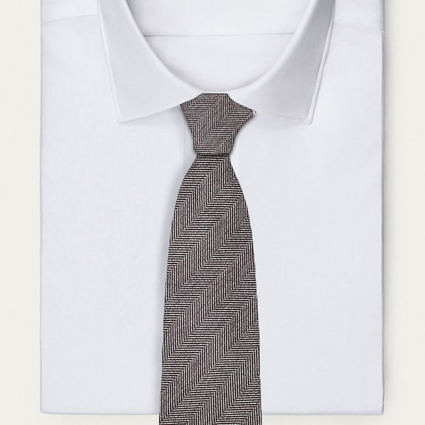 Grey Cross Striped Necktie Neckties Sirocco Fan Accessories