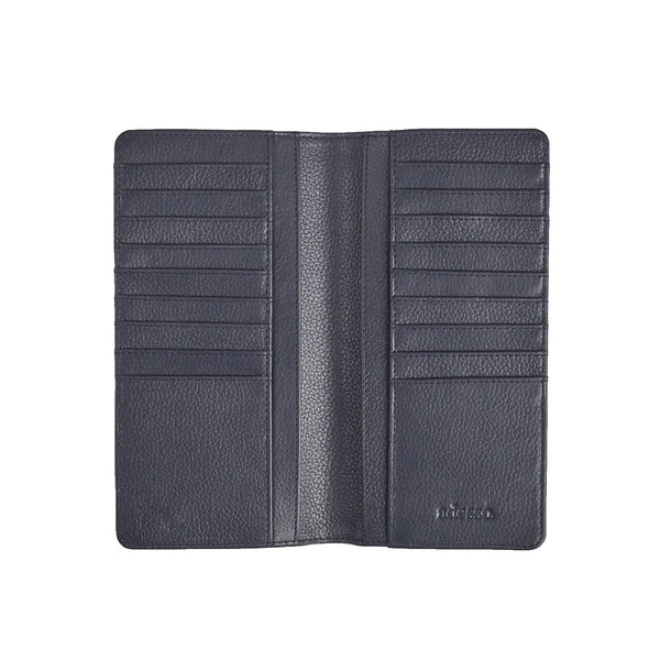 Navy Blue Coat Wallet Leather Goods Sirocco Fan Accessories