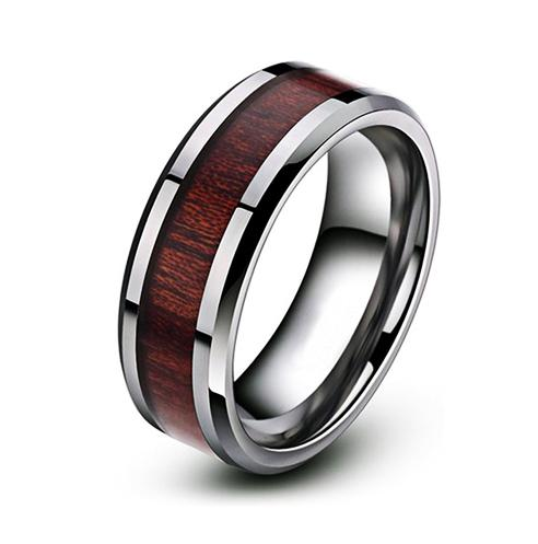 Silver Wooden Ring