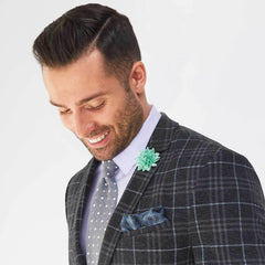 Mint Green Polka Dot Lapel Pin