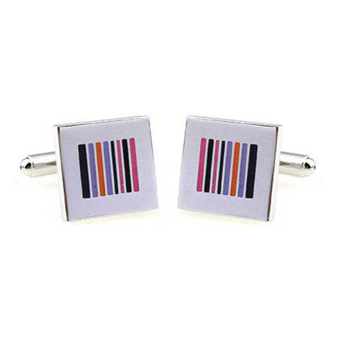 Multi Color Striped Cufflinks
