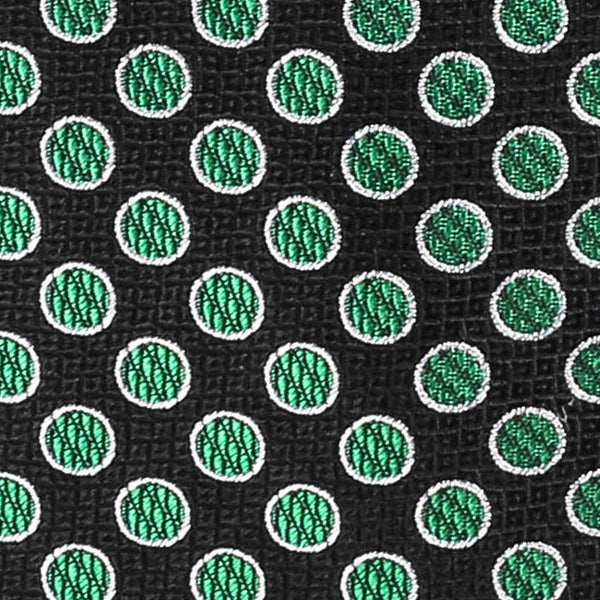 Green and Black Polka Dot Tie Neckties Sirocco Fan Accessories