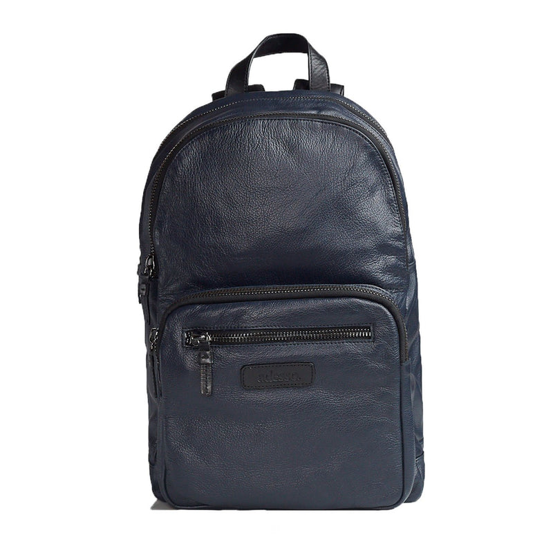 Signature Navy Blue Backpack Leather Goods Adesso Accessories