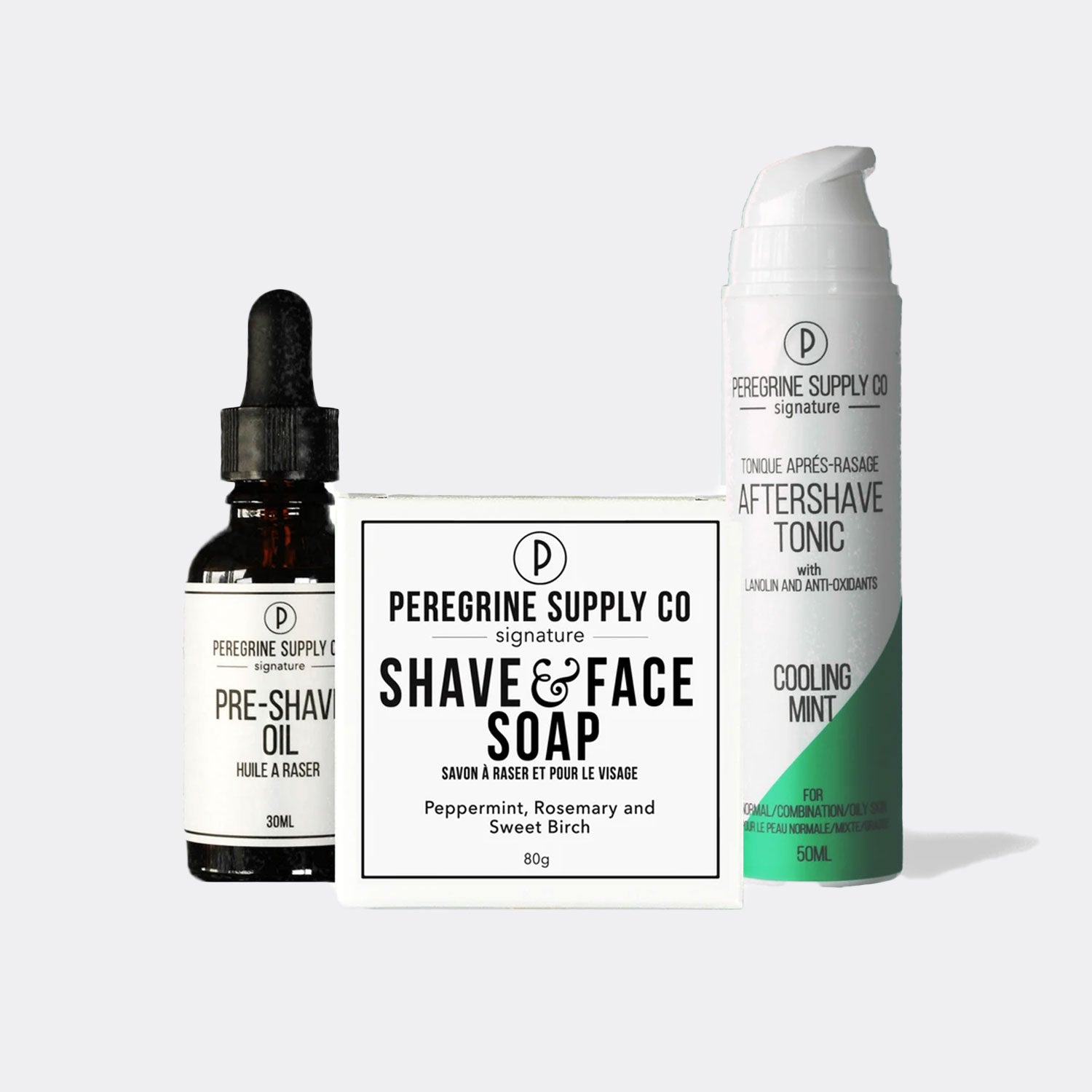 Peregrine Supply Co. Shave Box Care Set - Cooling Mint