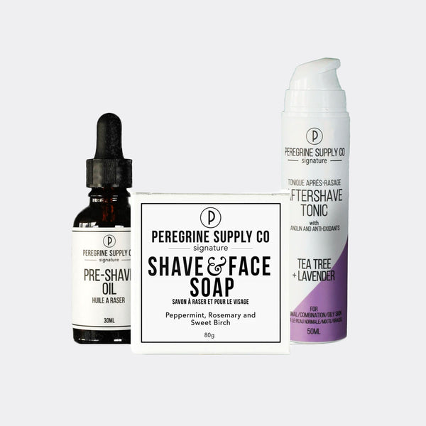Peregrine Supply Co. Shave Box Care Set - Tea Tree Lavender