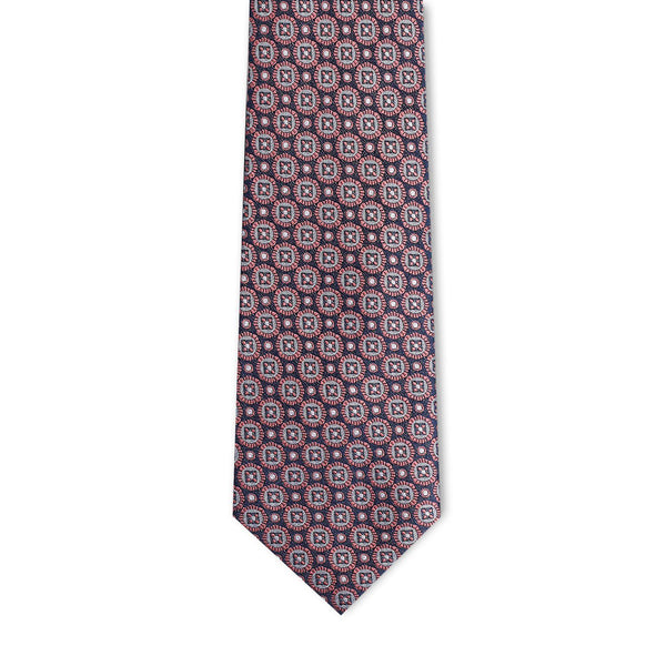 Pink Medallion Necktie Neckties Adesso Accessories