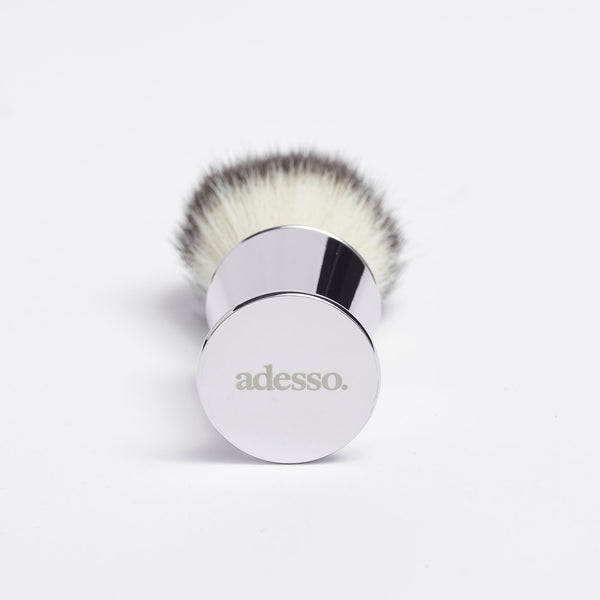 Sirocco Fan Silver Synthetic Brush