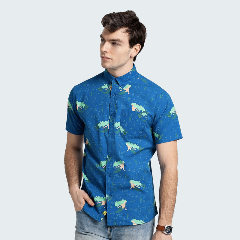 Under the Sea Button Down Short Sleeve - Poplin & Co Apparel Poplin & Co