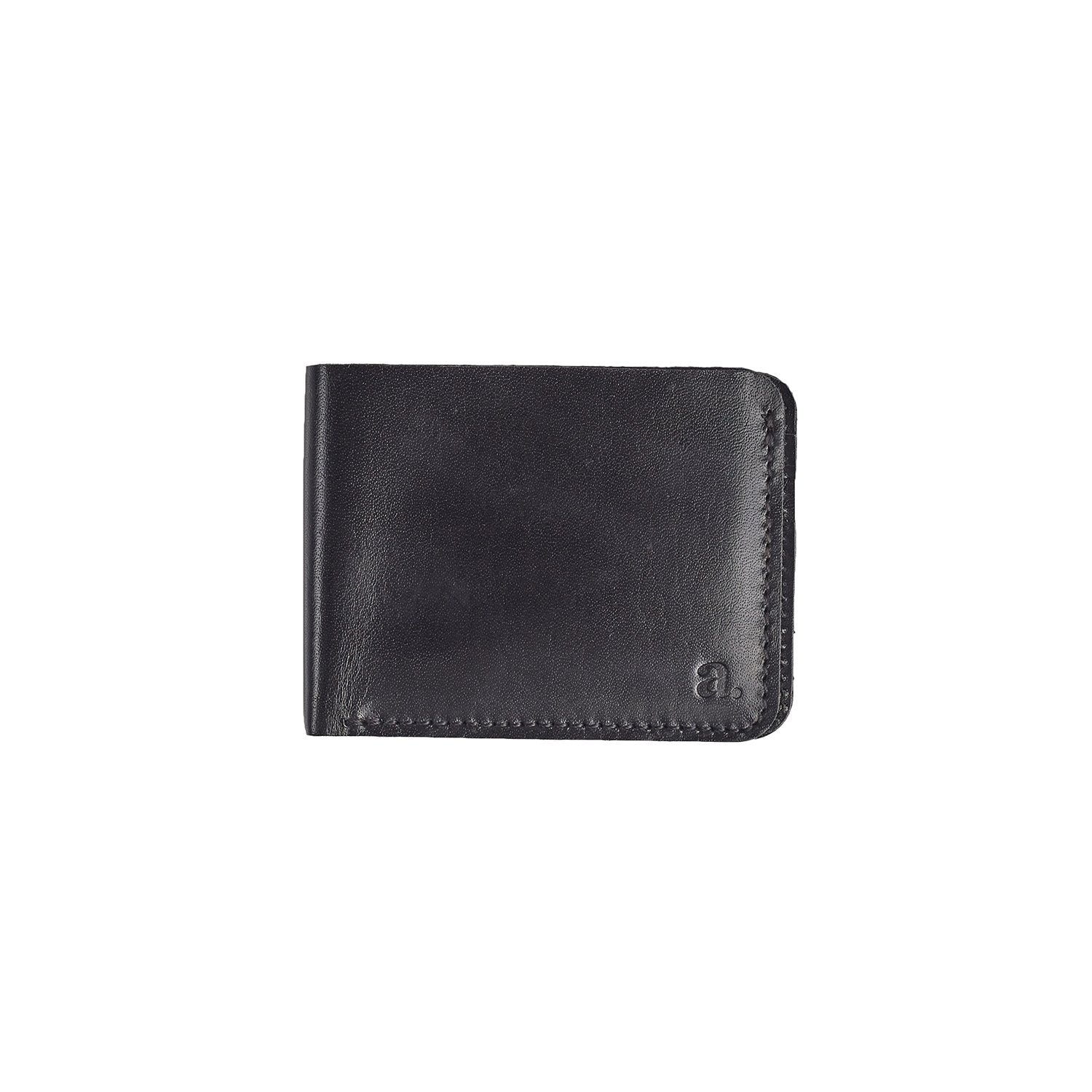 Raw Edge Bifold Wallet Leather Goods Adesso Accessories Black