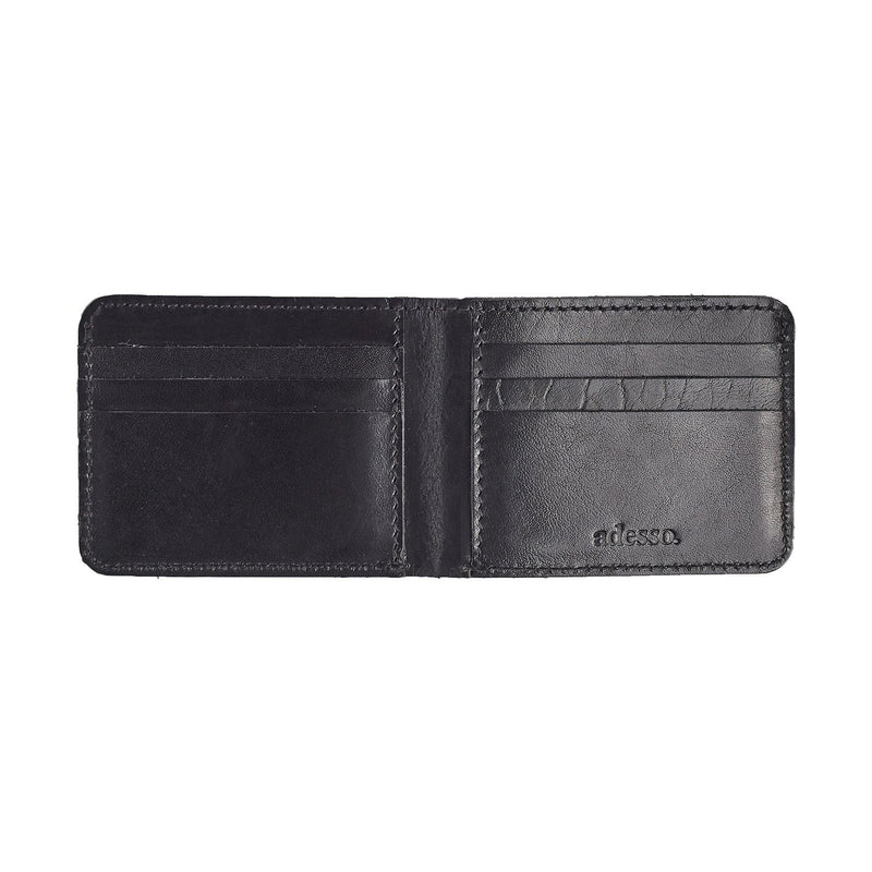 Raw Edge Bifold Wallet Leather Goods Adesso Accessories