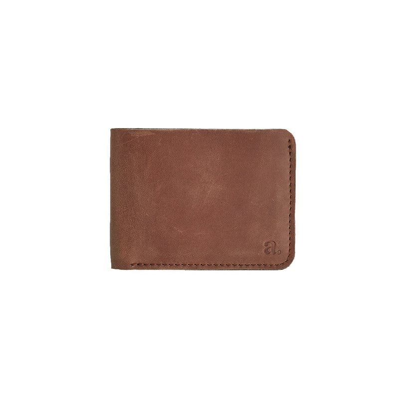 Raw Edge Bifold Wallet Leather Goods Adesso Accessories Crazy Horse