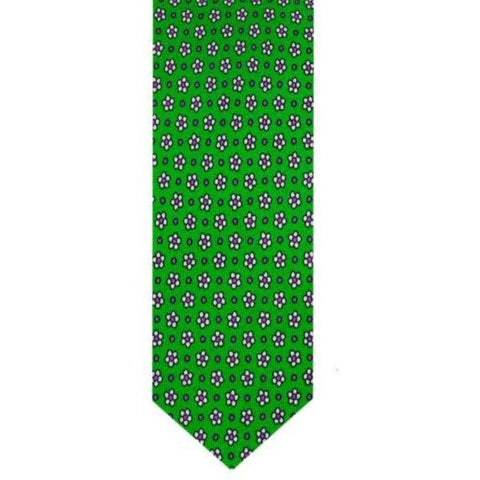 Green Floral Microprint Tie
