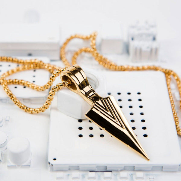 Gold Tribal Spear Necklace Necklaces Dapper and Bloke