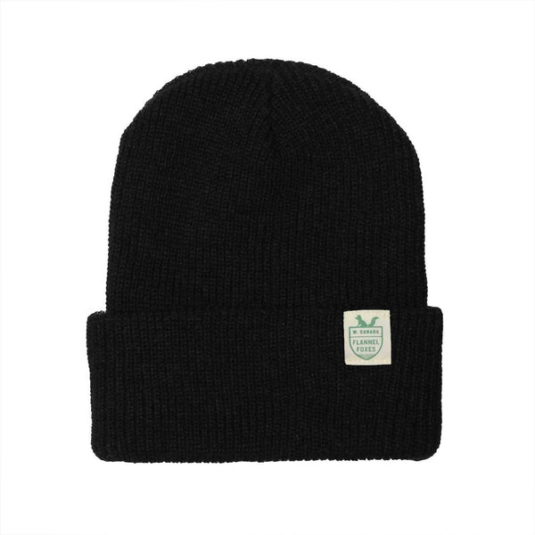 Flannel Foxes Fisherman Toque - Black Apparel Flannel Foxes