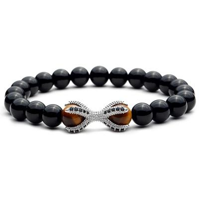 Silver Tigers Eye Octopus Bracelet