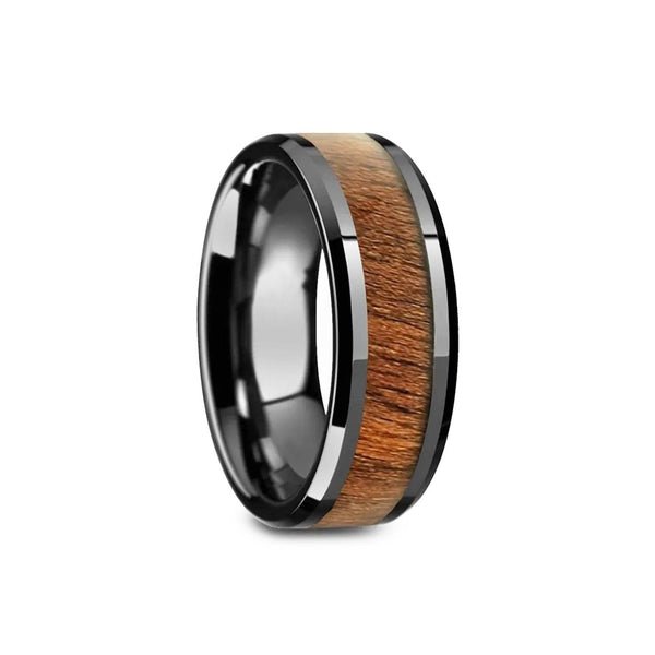 Black Ring - Wooden Inlay