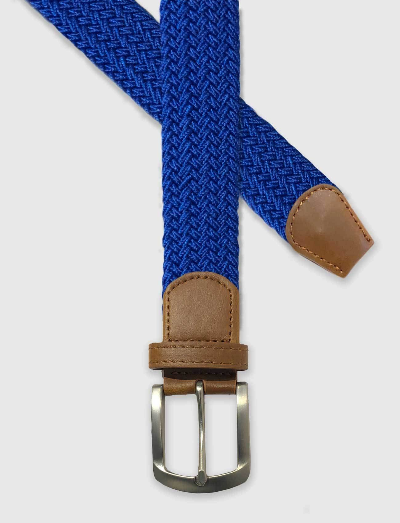 Royal Blue Braided Stretch Belt