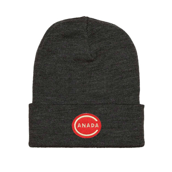 Canada Toque - Charcoal Apparel Flannel Foxes