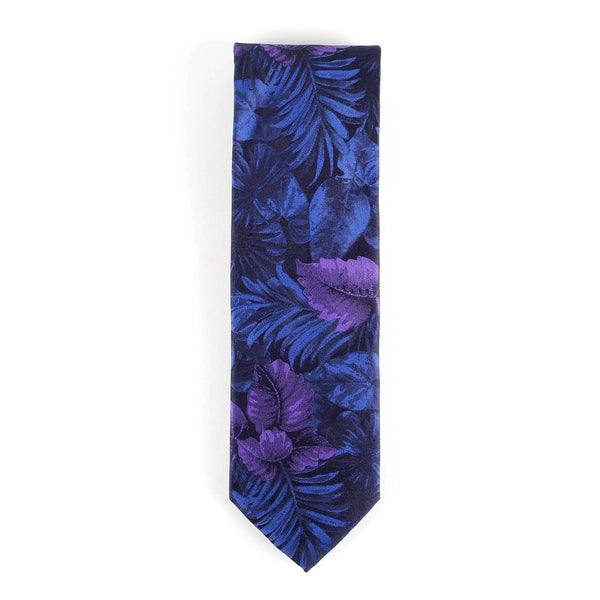 Midnight Floral Italian Tie Neckties Adesso Accessories