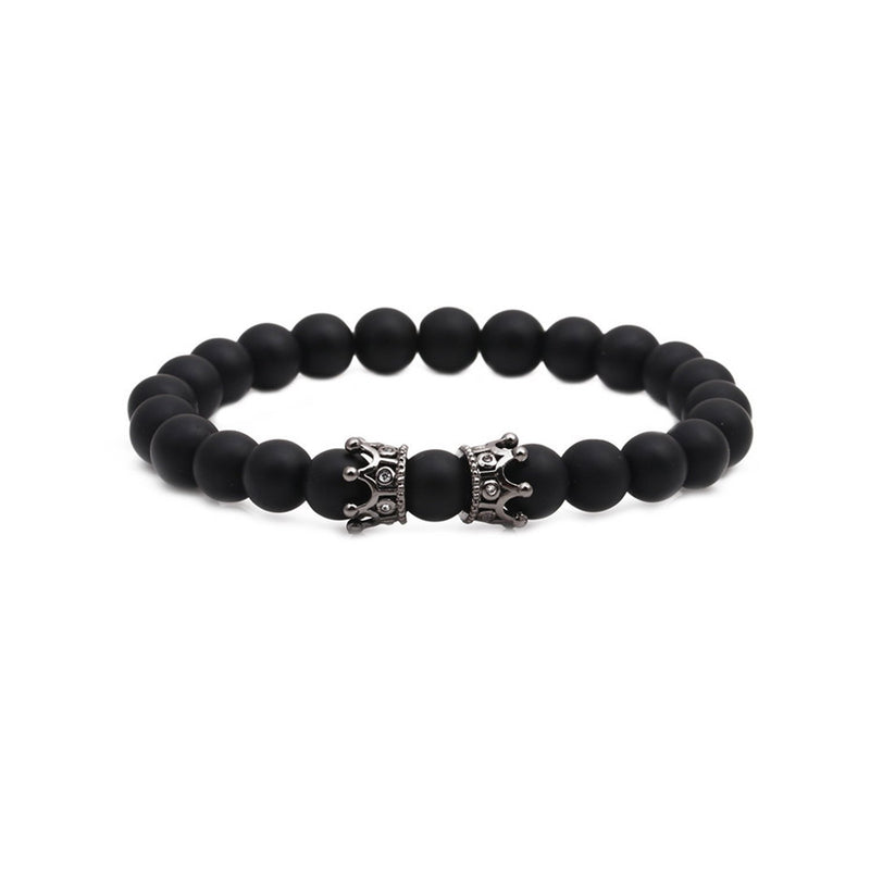 Gunmetal Matte Black Crown Bracelet Bracelets Adesso Accessories