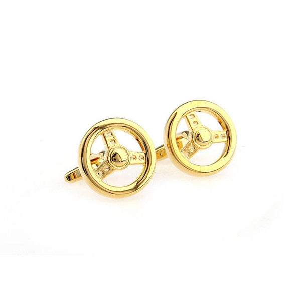 Gold Steering Wheel Cufflinks Cufflinks Sirocco Fan Accessories