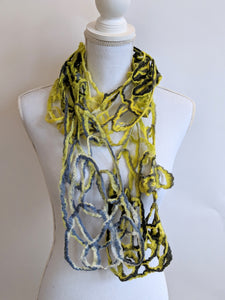 Lacey Brightly Colored Felt Scarf