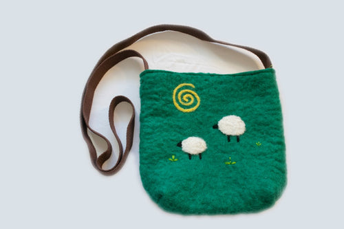 Sheep's in the Meadow Purse
