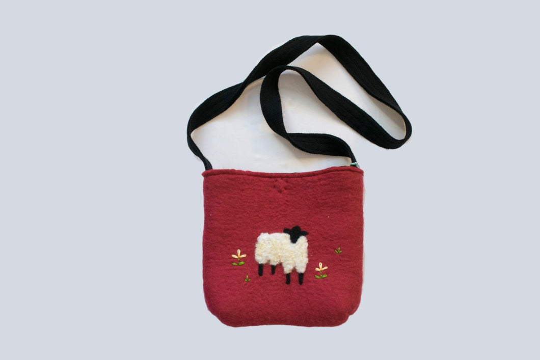 Red Sheep's in the Meadow Purse