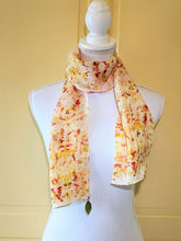 Dot to Dot / Yellow & Red Eco Print Scarf
